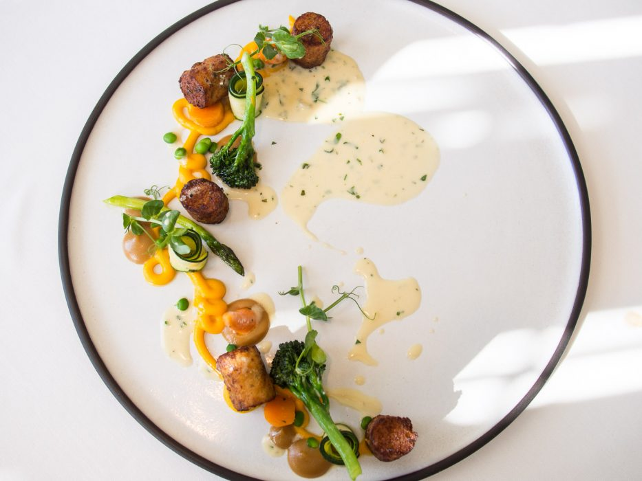 Herb gnocchi, gorgonzola and butternut from the vegetarian tasting menu at La Colombe, Cape Town