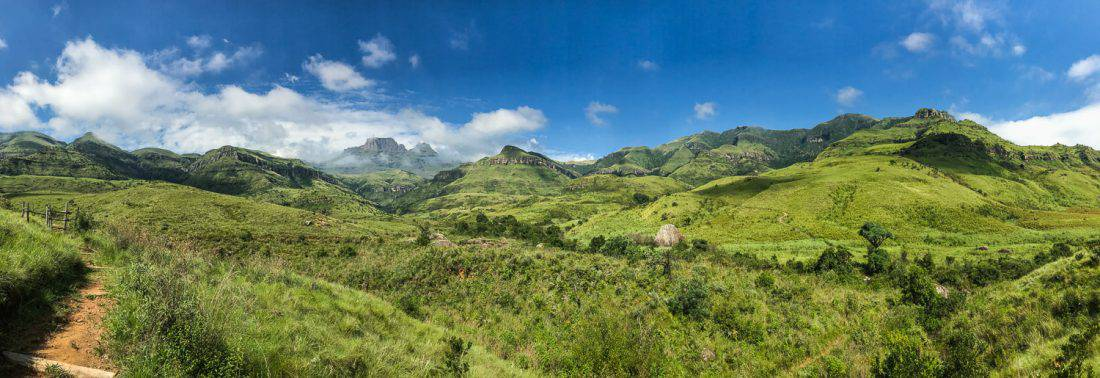 Drakensberg mountains on a South Africa road trip