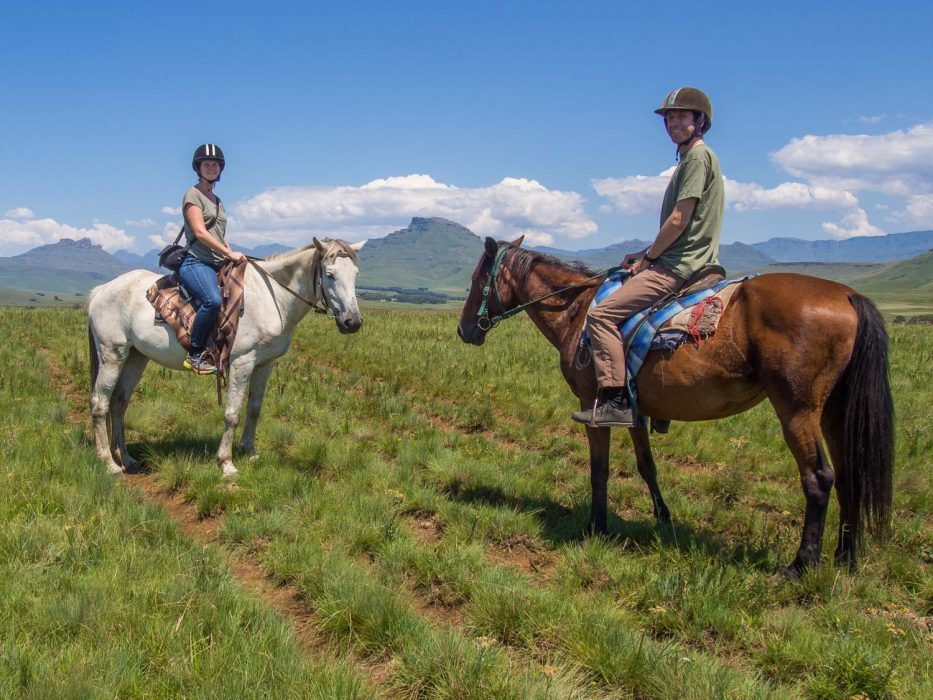 Horse riding with Khotso in Underberg in the Drakensberg Mountains
