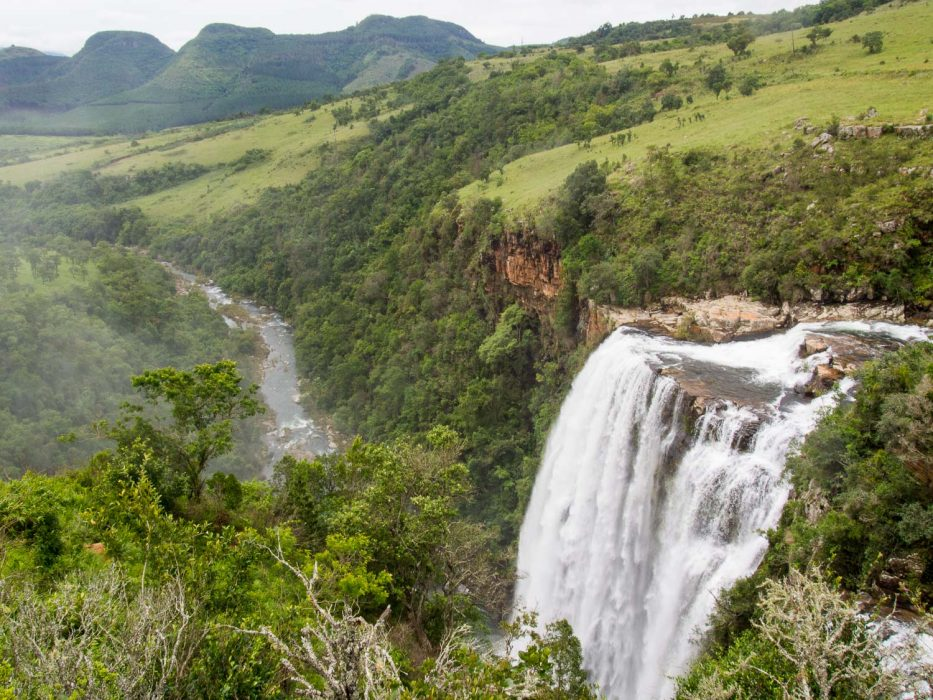 Lisbon Falls on the Panorama Route, our first stop on our South Africa road trip