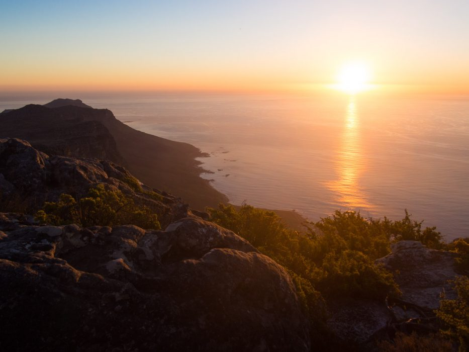Sunset on Table Mountain - one of the best things to do in Cape Town