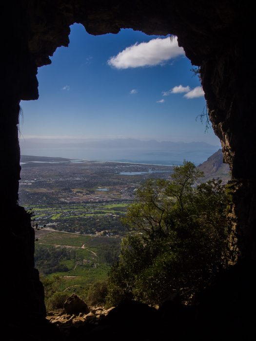 The view from Elephant's Eye Cave in the Silvermine Nature Reserve, Cape Town