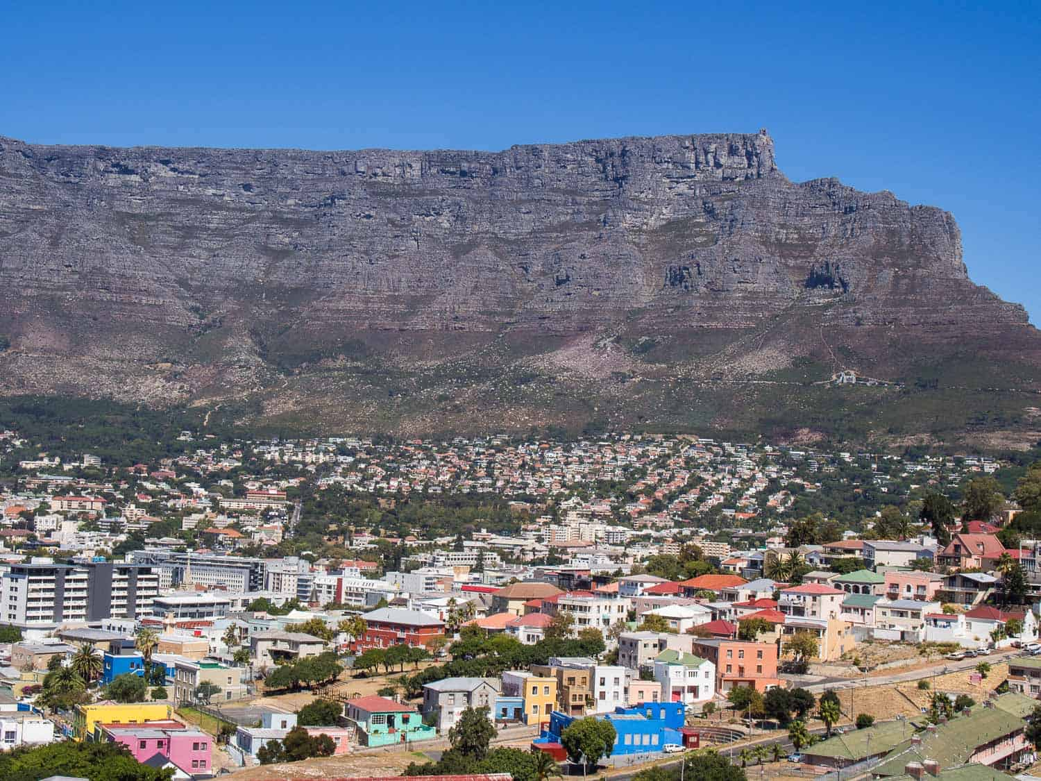 Things to do in Cape Town - the view from Bo-Kaap