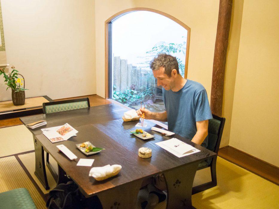 The tatami rooms of Bon vegetarian restaurant Tokyo