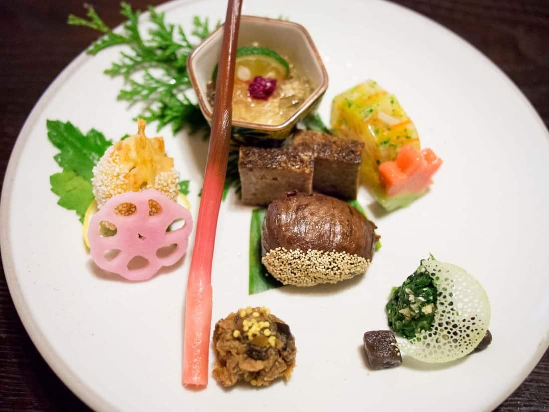 Fucha ryori dish at Bon vegetarian restaurant Tokyo