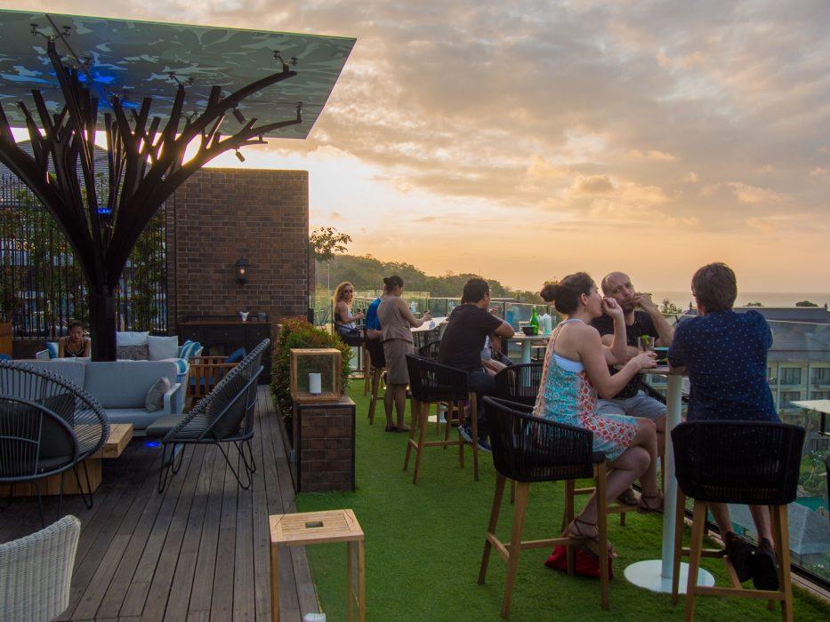 Above Eleven bar at sunset at the Movenpick Jimbaran Bali