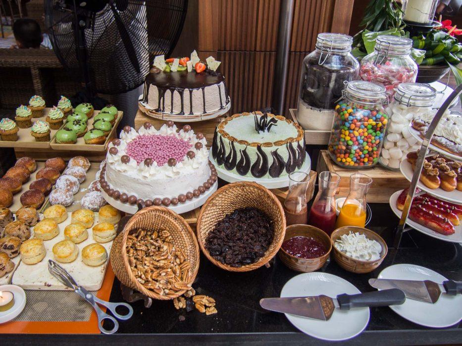 The delicious afternoon tea at the Katha Lounge at the Movenpick Jimbaran Bali