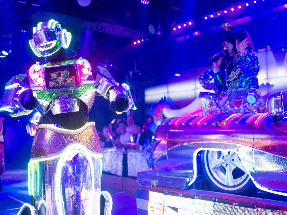 Robot and singer at the Robot Restaurant Japan