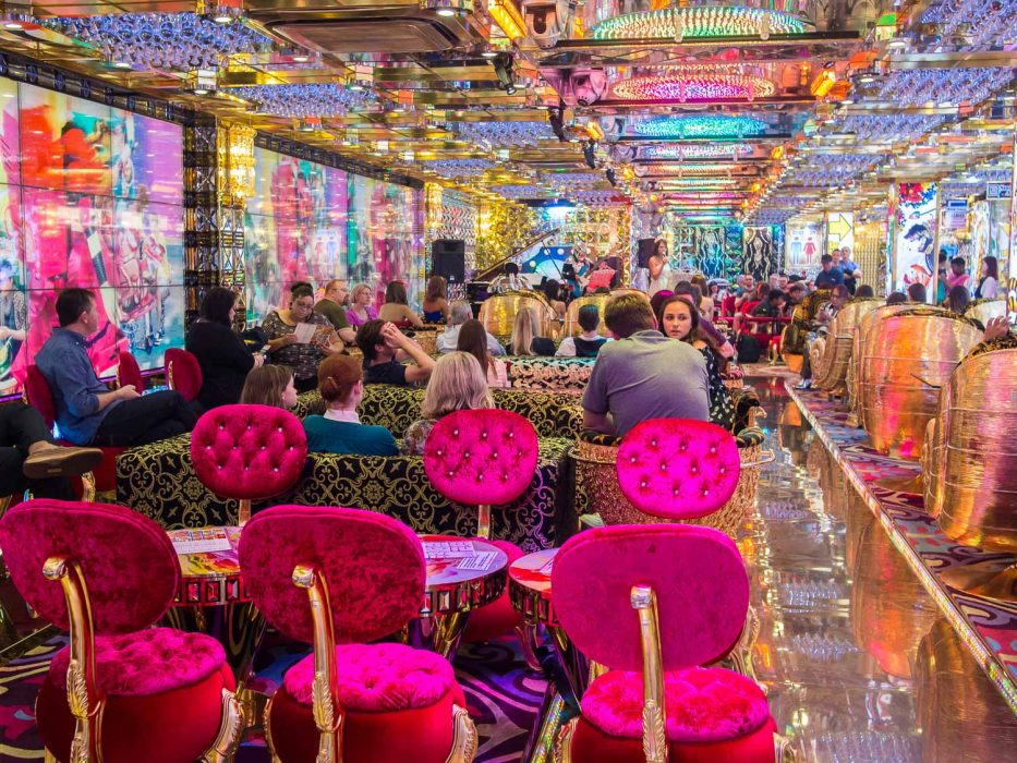 Waiting room at the Robot Restaurant