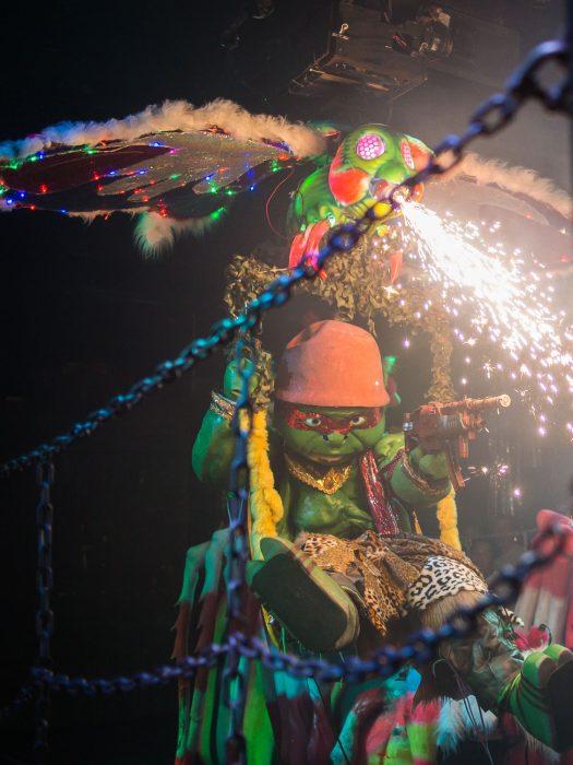 Ninja turtle and gunfire at the Robot cabaret show, Tokyo