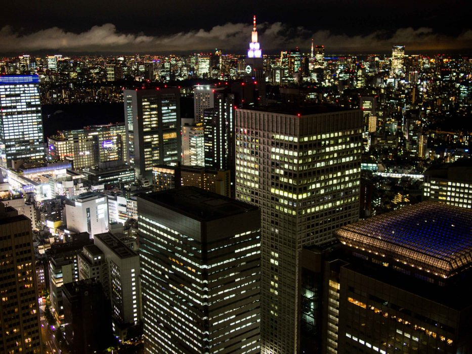 Tokyo at night—the free view from the Metropolitan Government Building