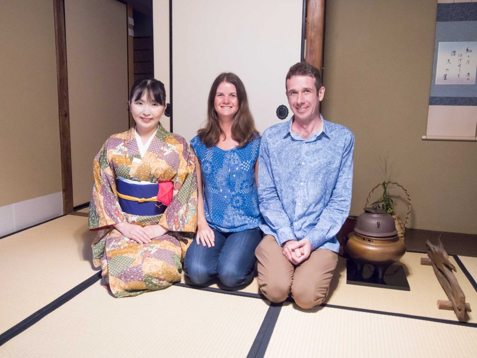 Simon and I at a tea ceremony in Kanazawa