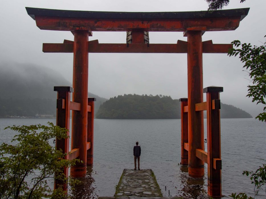 Hakone jinja shrine in Japan