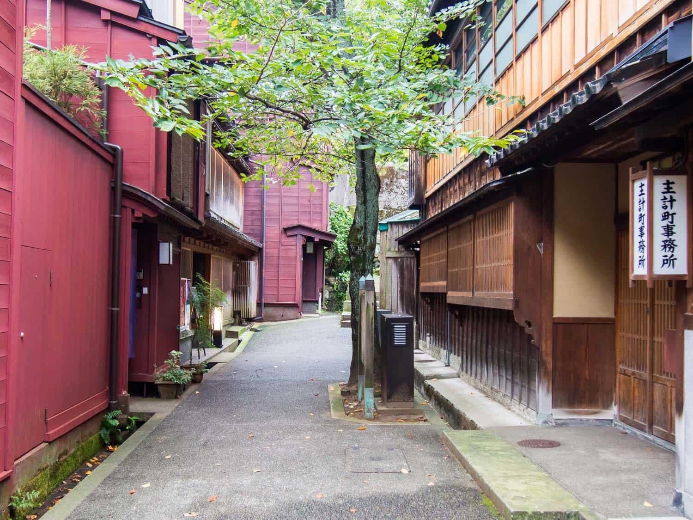 Kazuemachi geisha area in Kanazawa, Japan