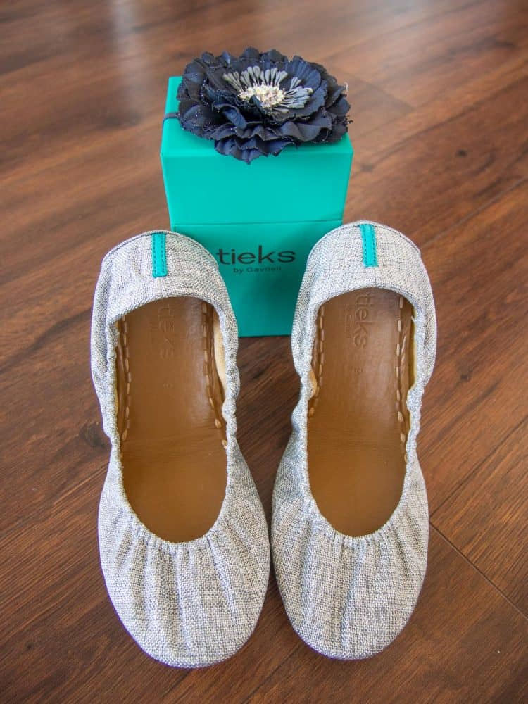My brand new Silver Lake Vegan Tieks (and the lovely box they came in)