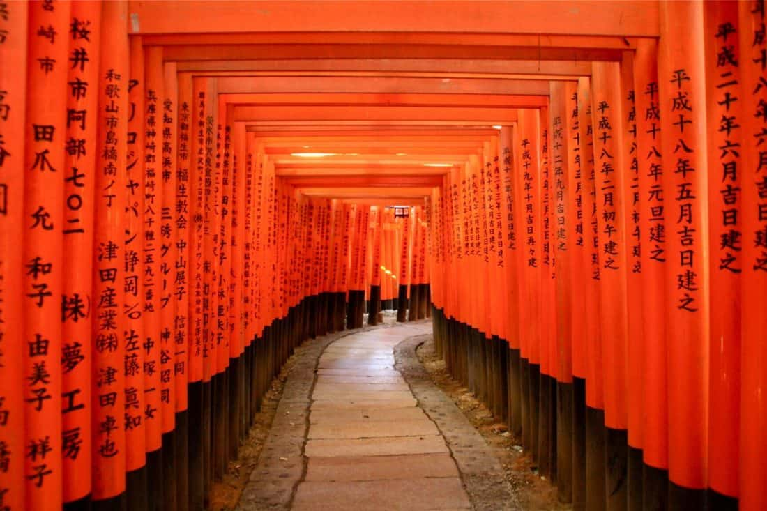 Fushimi Inari shrine in Kyoto, one of the best places to visit in Japan