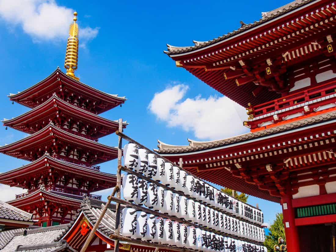 Sensoji Temple, one of our favourite cool things to do in Tokyo
