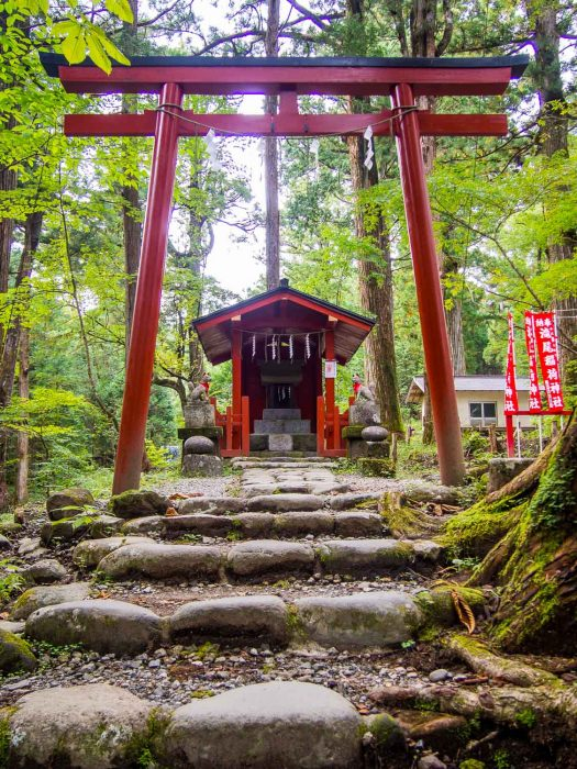 The quiet Takino shrine in Nikko on our two week trip to Japan