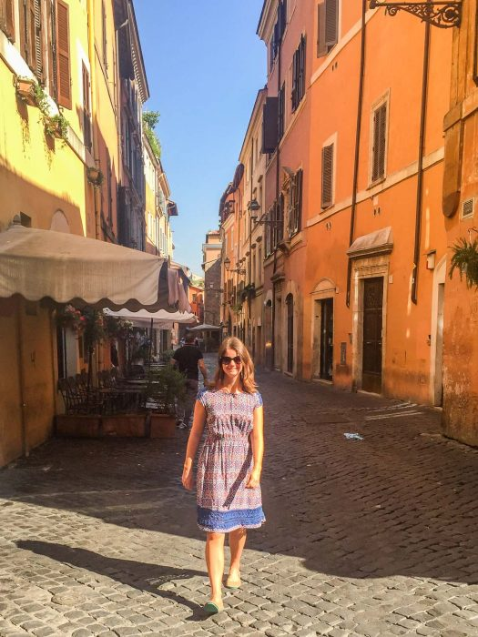 Wearing my Brentwood vegan Tieks for long days of walking in Rome