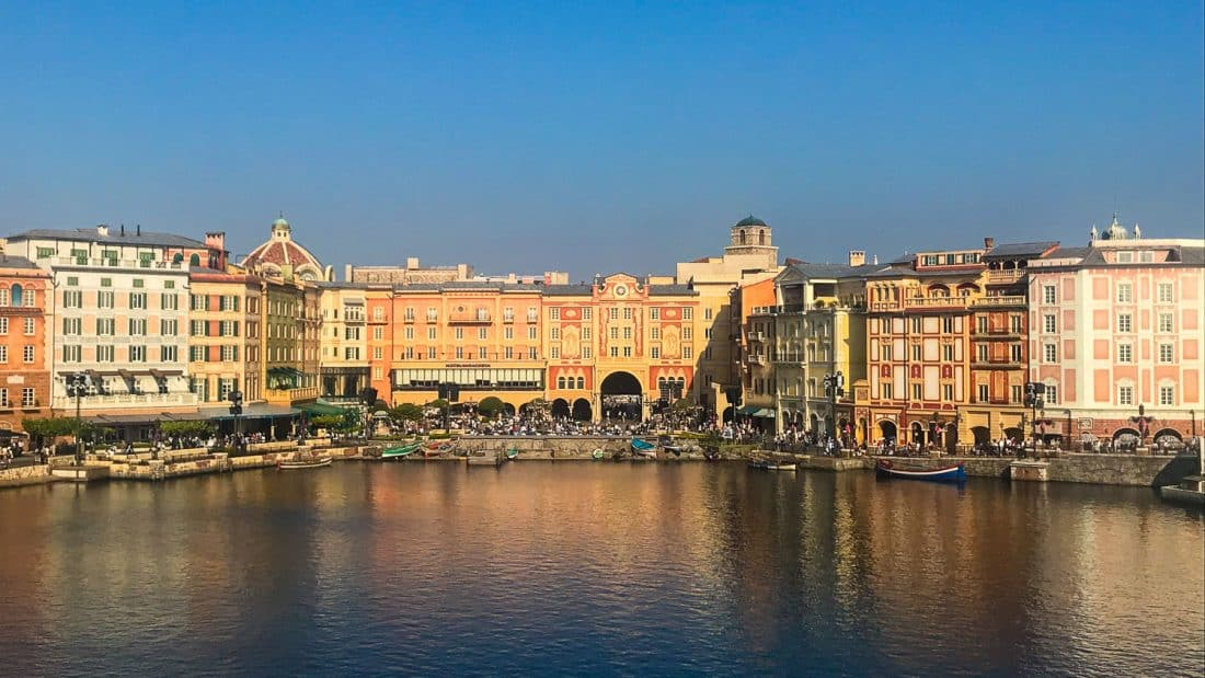 The view of Mediterranean Harbor from the Fortress at Tokyo Disneysea