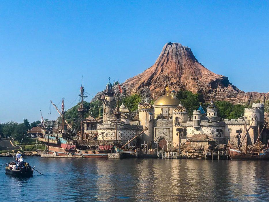 Gondola heading towards Mysterious Island at DisneySea Tokyo
