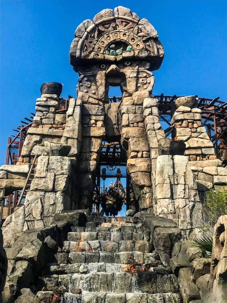 Raging Spirits rollercoaster at Tokyo DisneySea