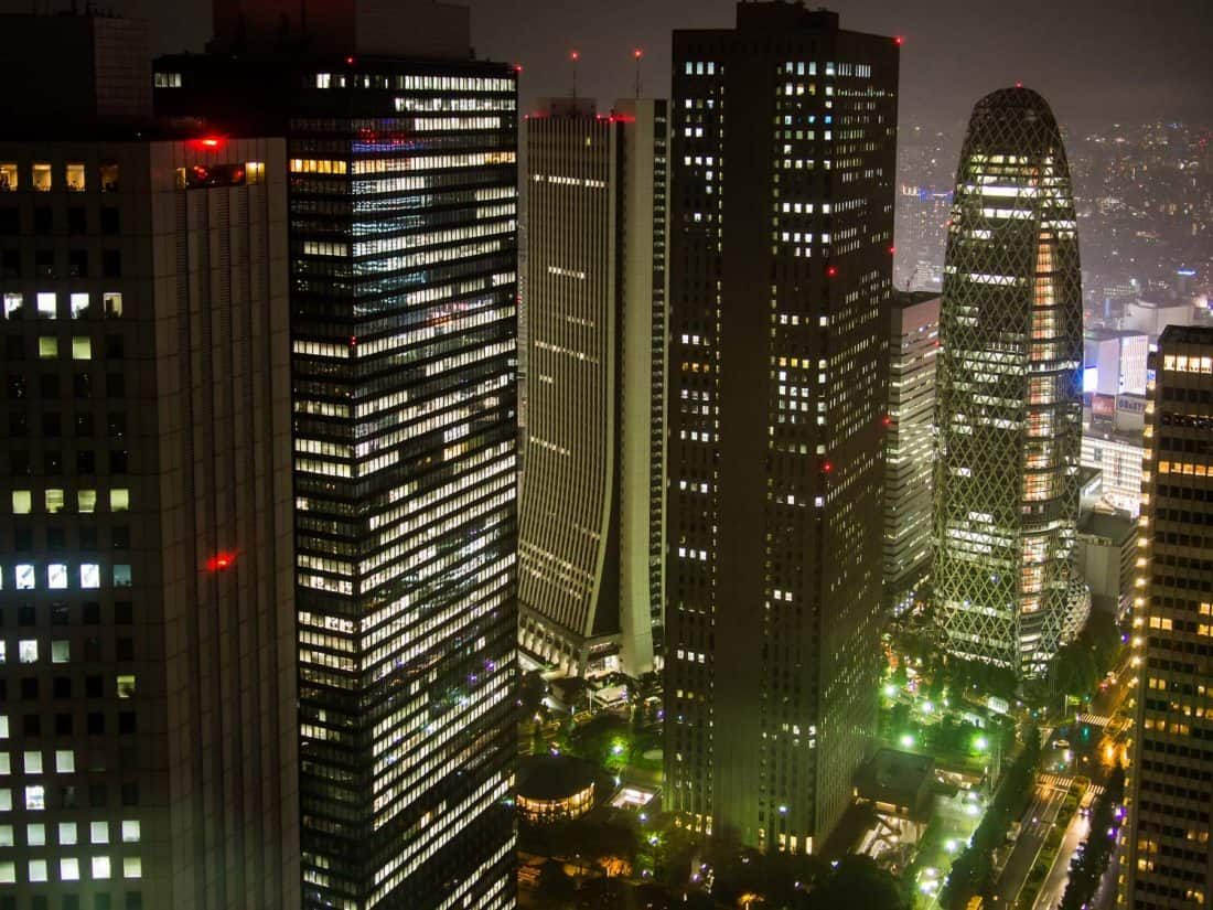 The view from the Tokyo Metropolitan Government Building in Shinjuku, the best place to stay in Tokyo