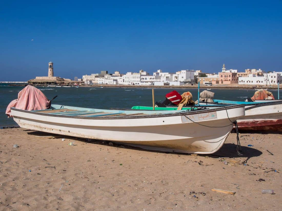 Al Ayjah fishing village in Sur, Oman