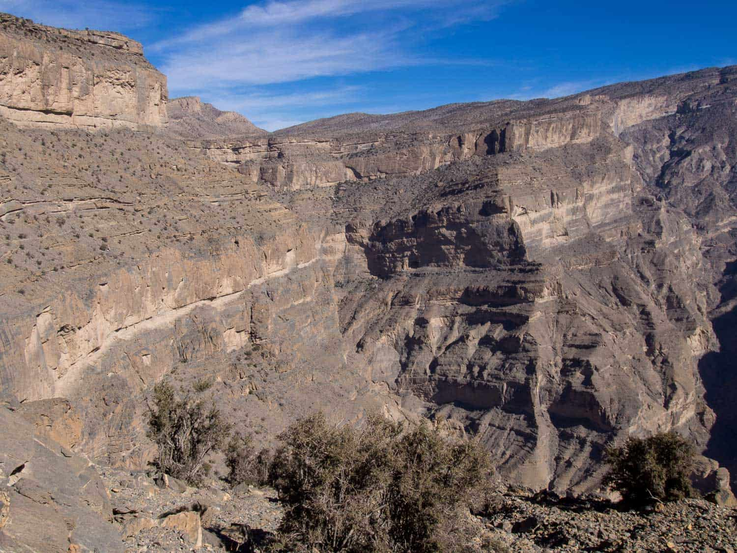 The view on the Balcony Walk at Jebel Shams, one of the best things to do in Oman