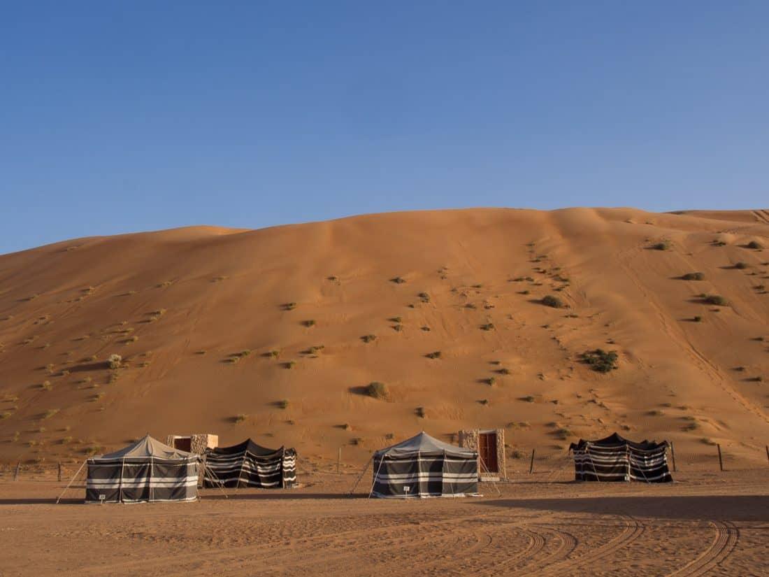 The bedouin tents at Desert Retreat Camp, Oman