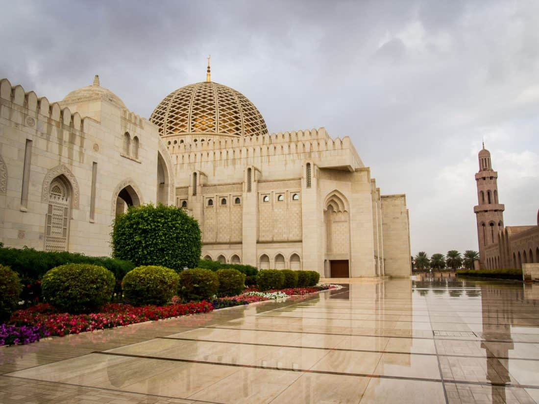 Grand Mosque Muscat in the rain