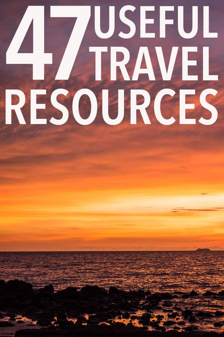 The ultimate list of travel resources to plan your perfect trip including finding the cheapest flights and accommodation, the best luggage and gear for packing light, travel insurance, travel technology tools, and lots more.