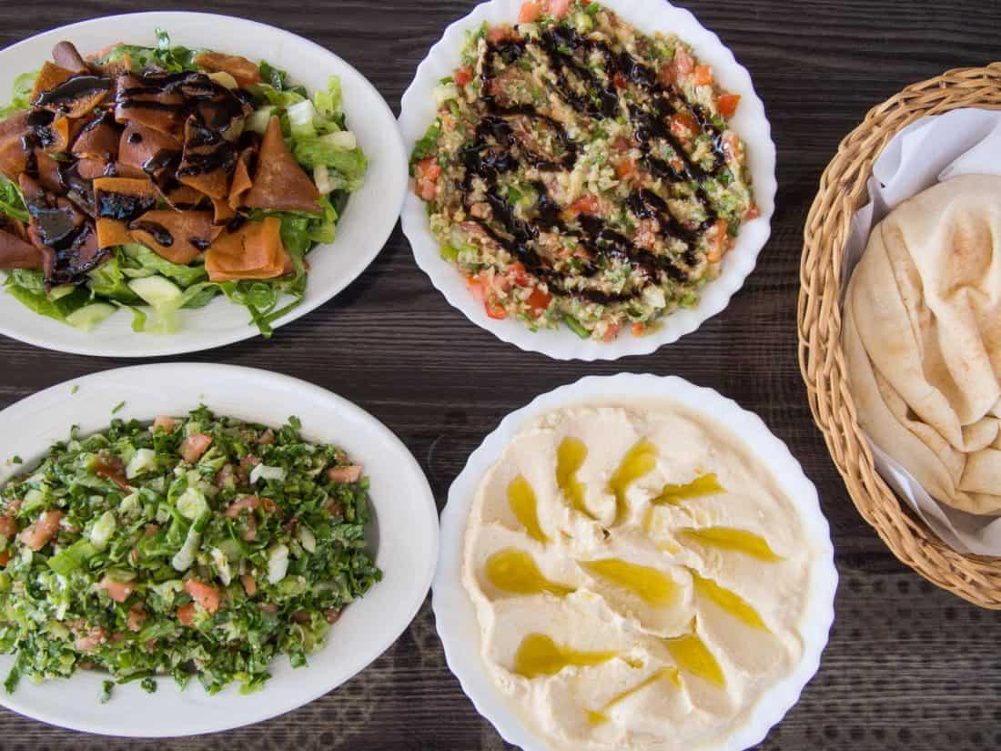 Vegetarian mezze at Sahari in Sur, Oman