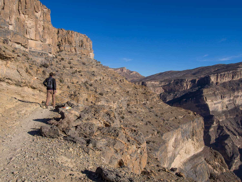 Hiking the Balcony Walk in Jebel Shams, Oman