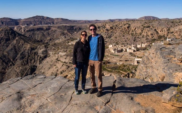 Erin and Simon at Jebel Akhdar, Oman