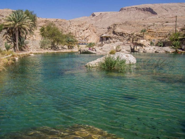 Wadi Bani Khalid in Oman: one of the stops on our Oman itinerary, a 10 day road trip around north Oman
