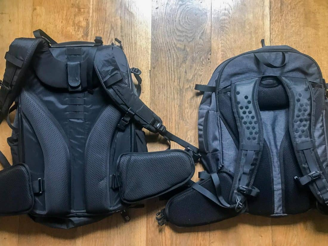 The suspension systems of the Outbreaker and Setout backpacks compared