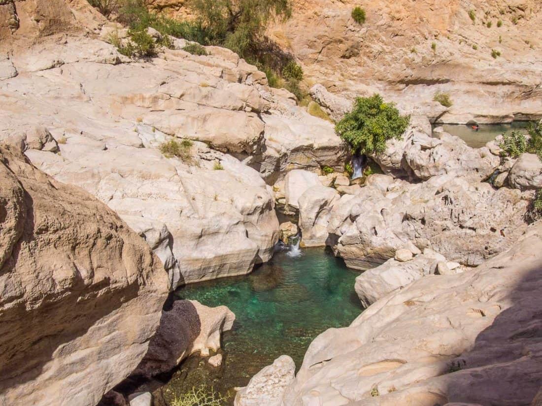 Upper pools at Wadi Bani Khalid, Oman