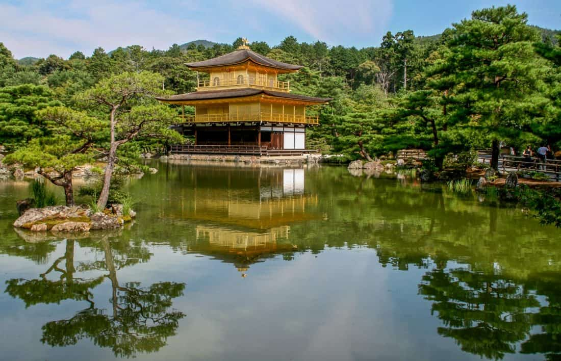 Kinkakuji, the Golden temple Kyoto, one of the best places to visit in Japan.
