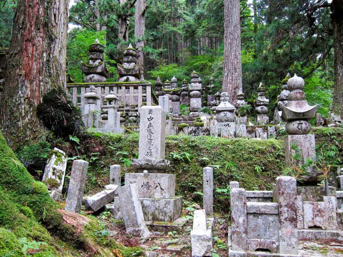 Okunoin cemetery in Koya-san, a top Japan destination