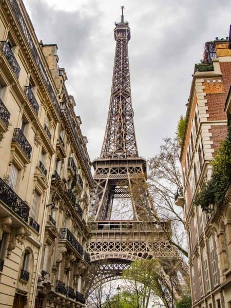 The Eiffel Tower, a must see on a London to Paris day trip