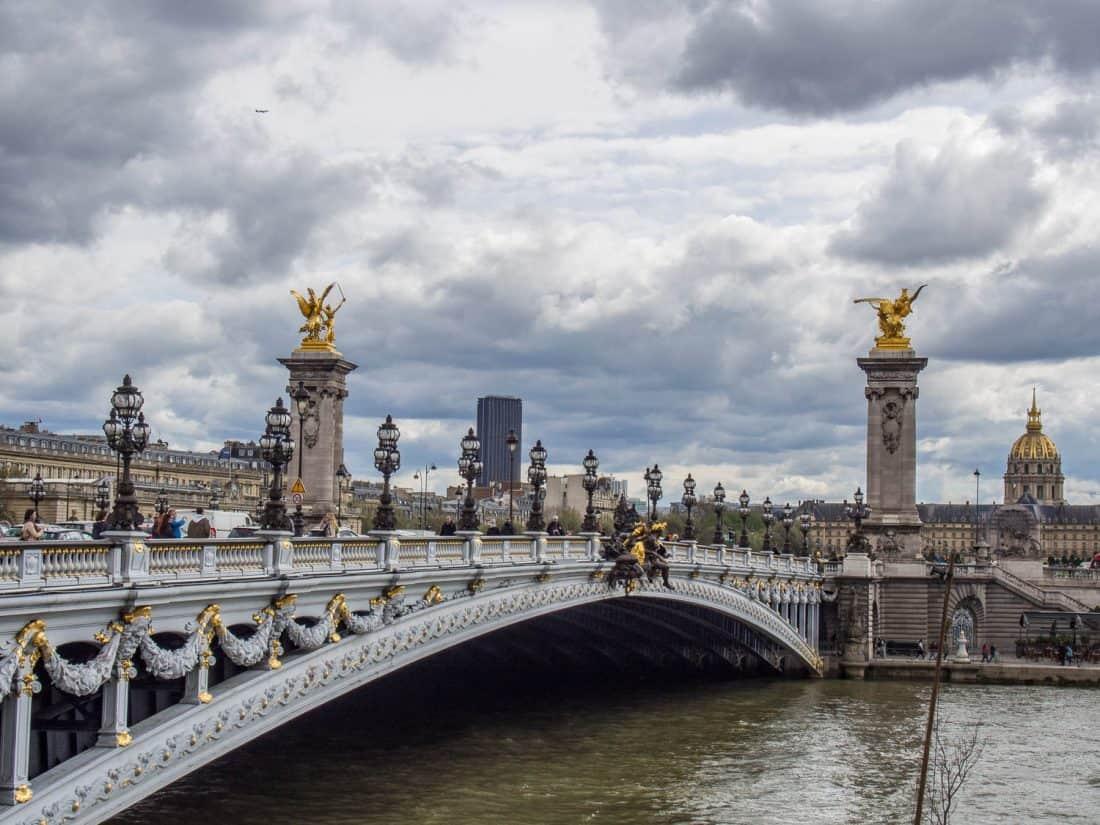 Alexandre III bridge on the Seine in Paris