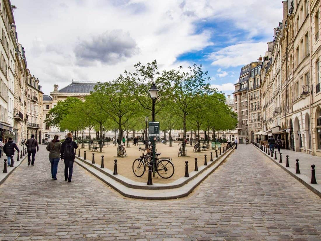 Place Dauphine on Île de la Cité near Notre Dame, Paris