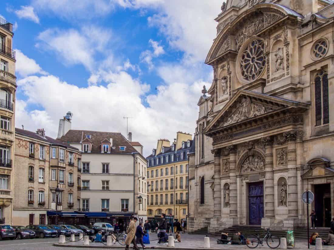 Saint-Étienne-du-Montchurch opposite the Pantheon in Paris