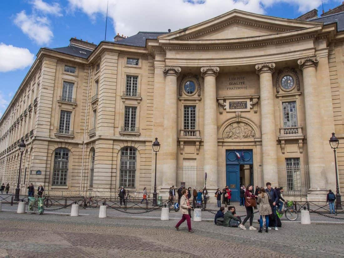 Law Faculty of the Pantheon-Sorbonne University opposite the Pantheon in Paris