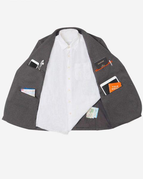 The 10 hidden pockets in the Bluffworks blazer