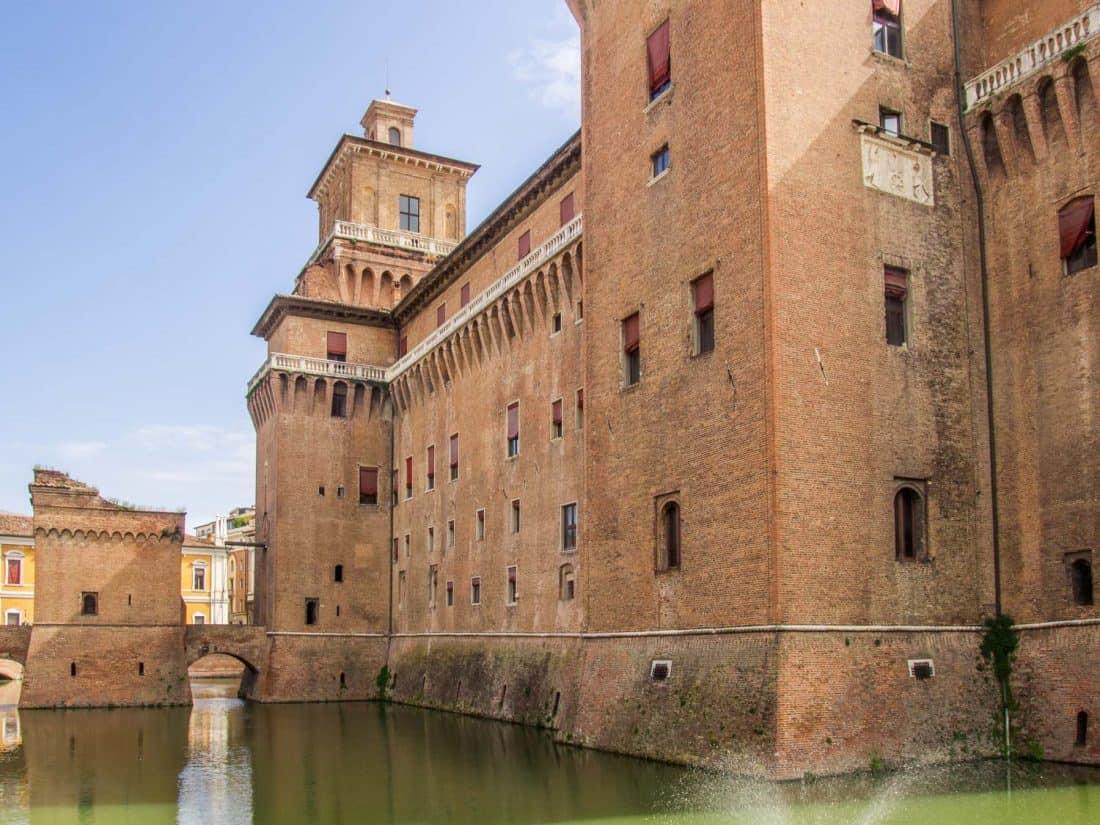 The Estense Castle in Ferrara, Italy