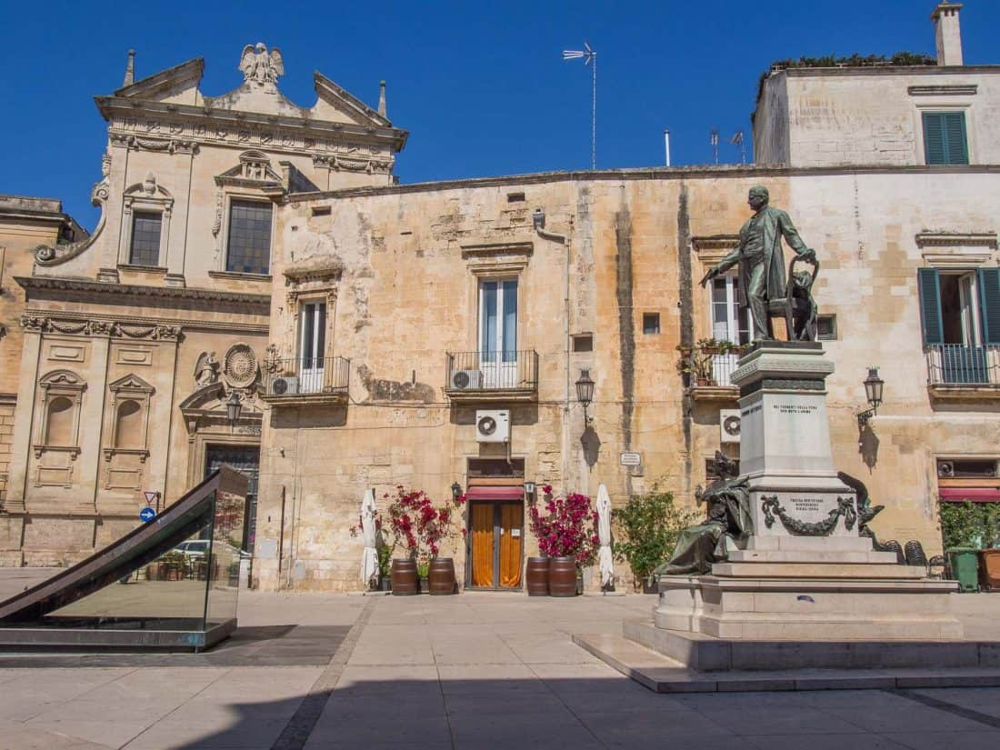 One of our favourite piazzas in Lecce