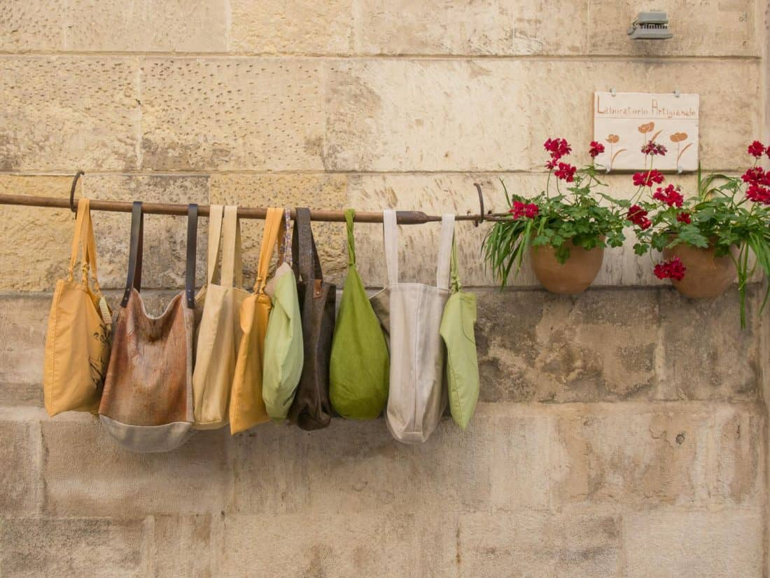 Clothes and souvenir shopping in Lecce, Italy