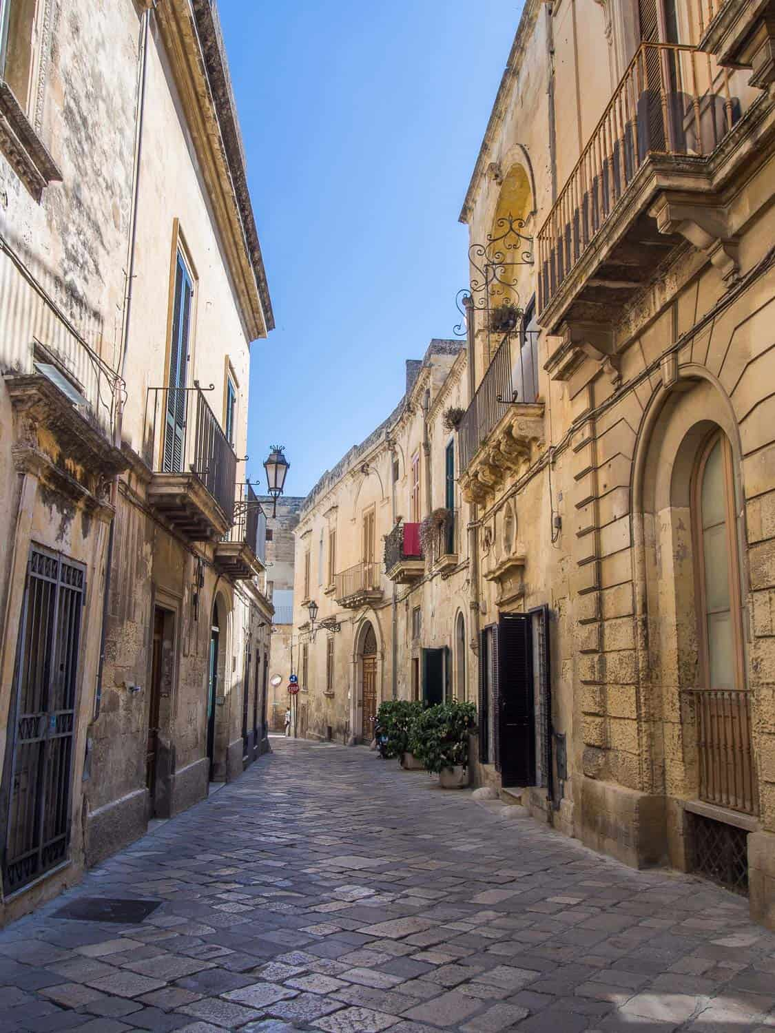 Our street in Lecce
